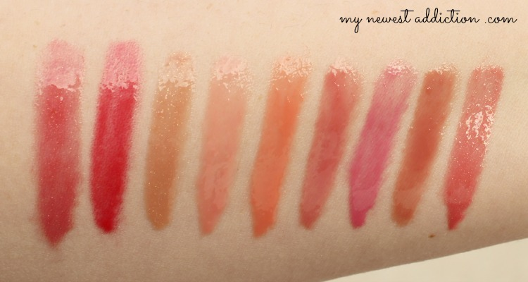 Tarte LipSurgence Lip Gloss swatches