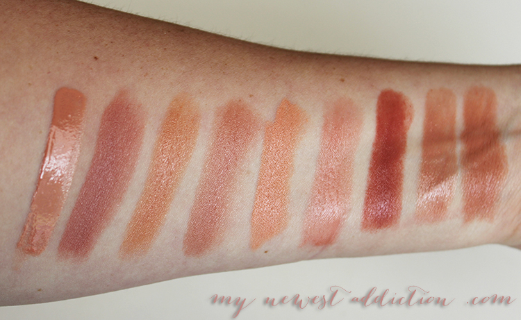 the best nude lip swatches