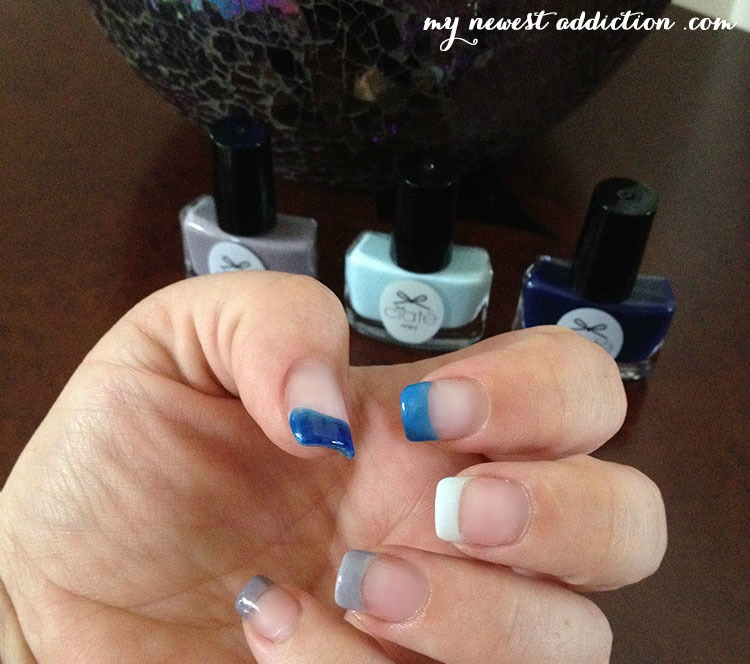ombre french tip mani