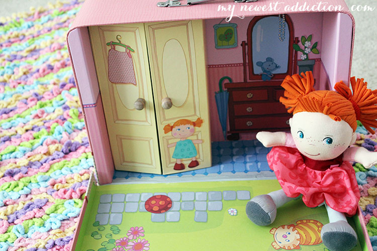 Doll Shona with suitcase