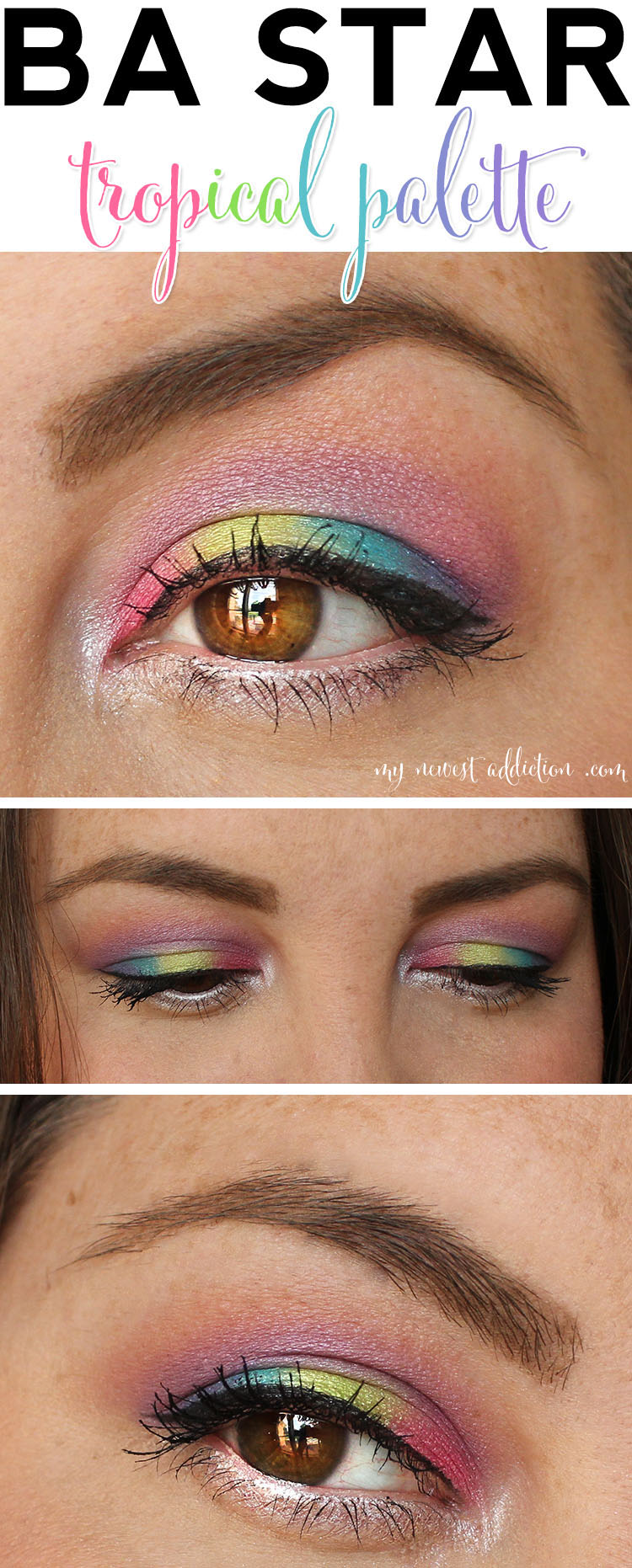 ba star tropical palette eye makeup look