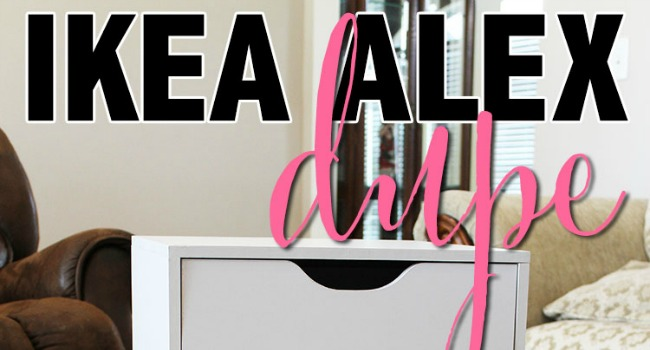 ikea alex drawers dupe slider