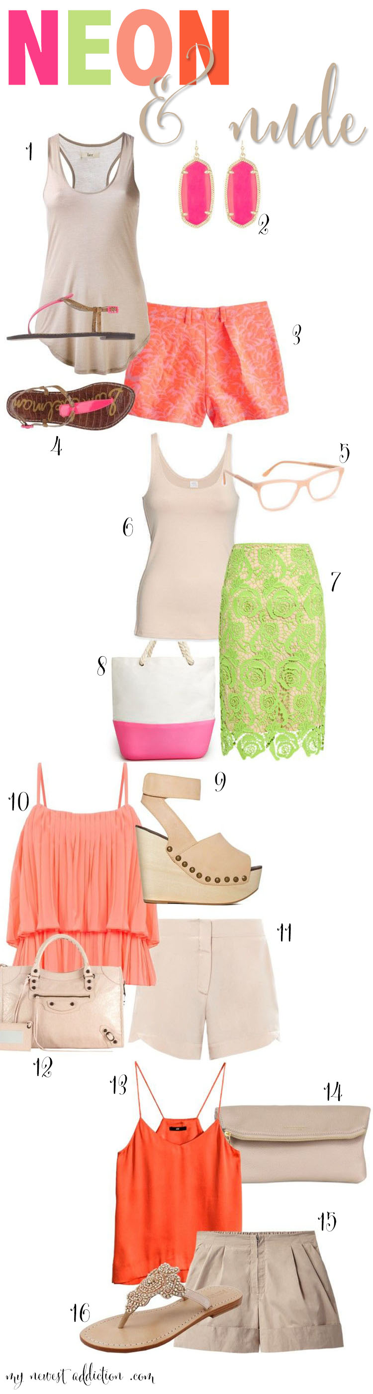 neon and nude summer trends