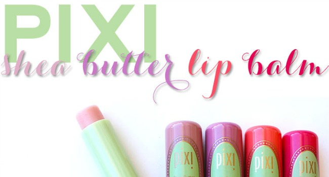 pixi shea butter tinted lip balm slider