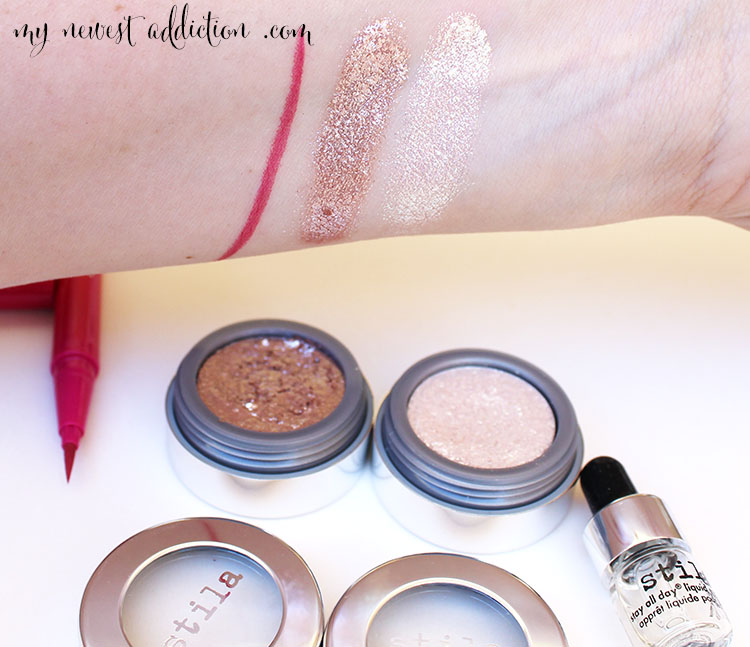 stila paradise pink liquid liner and magnificent metals foil eye shadow