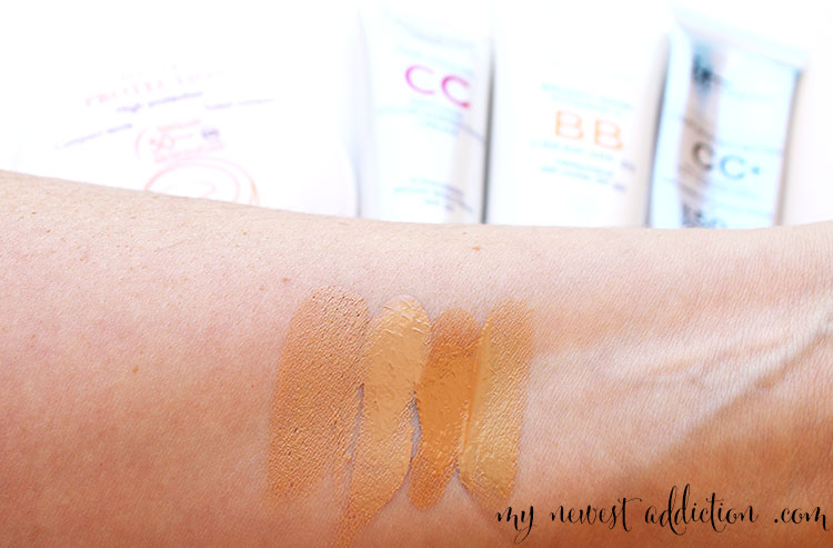 BB Creams and CC Creams are fantastic sources of sunscreen