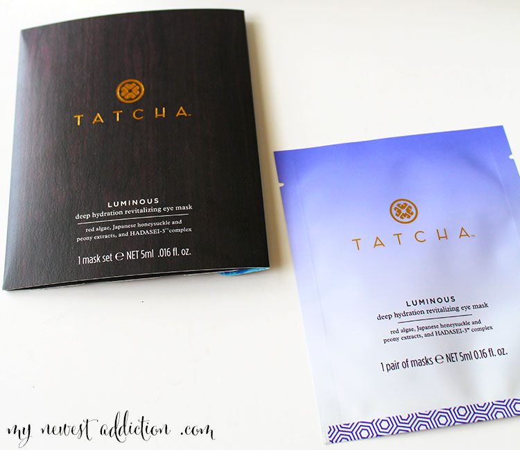 TATCHA Water Collection Serum and Eye mask