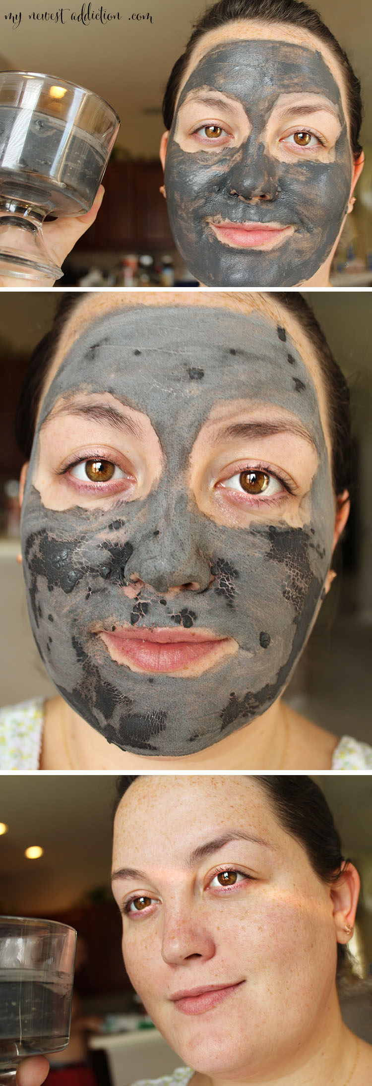 DIY Glamglow Inspired Mask on my face