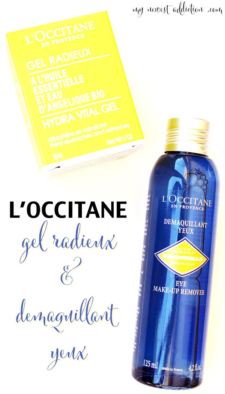 l'occitane gel radieux and demaquillant yeux