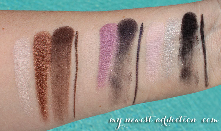 too faced cat eyes arm swatches