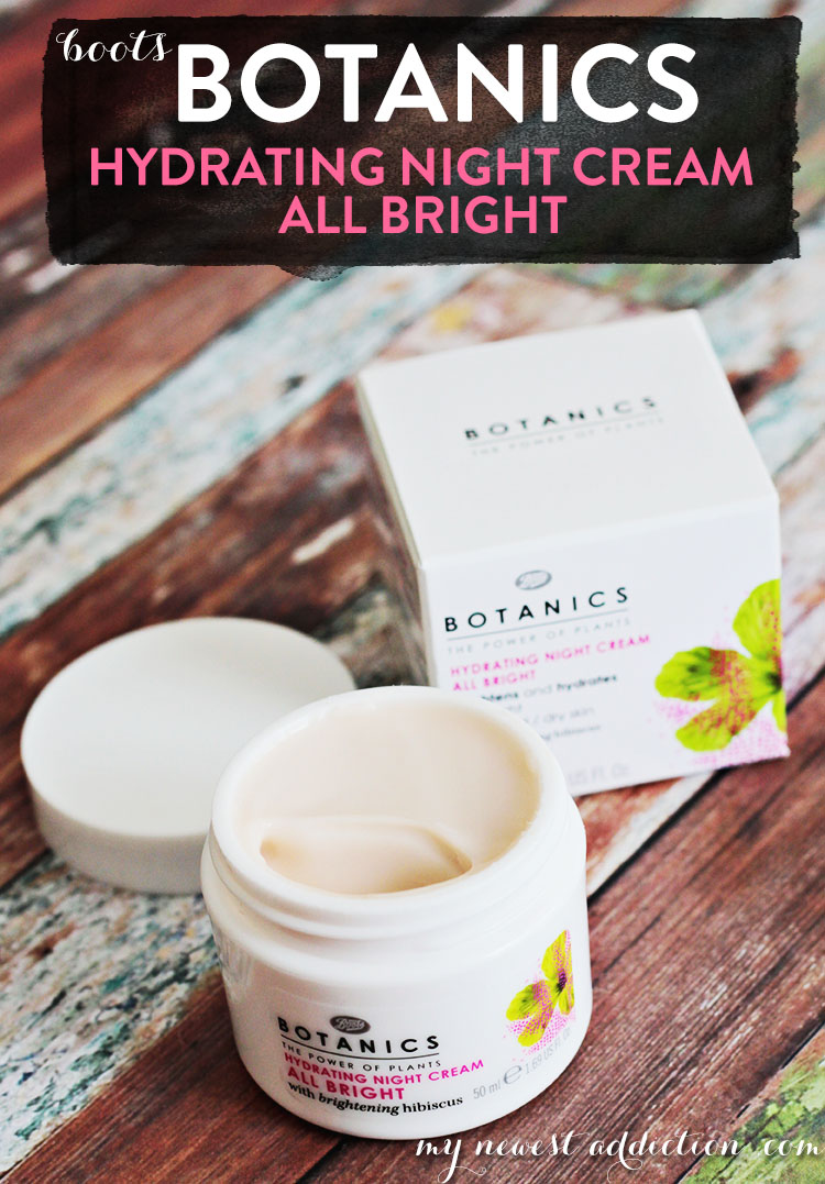 Boots Botanics Hydrating Night Cream All Bright