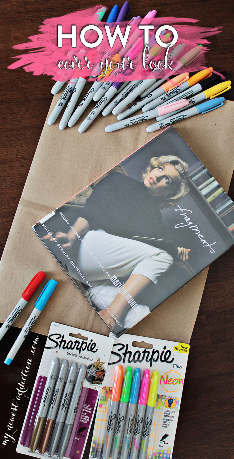 How To Cover Your Book for Back To School #StaplesBTS #Sharpie #pmedia #ad