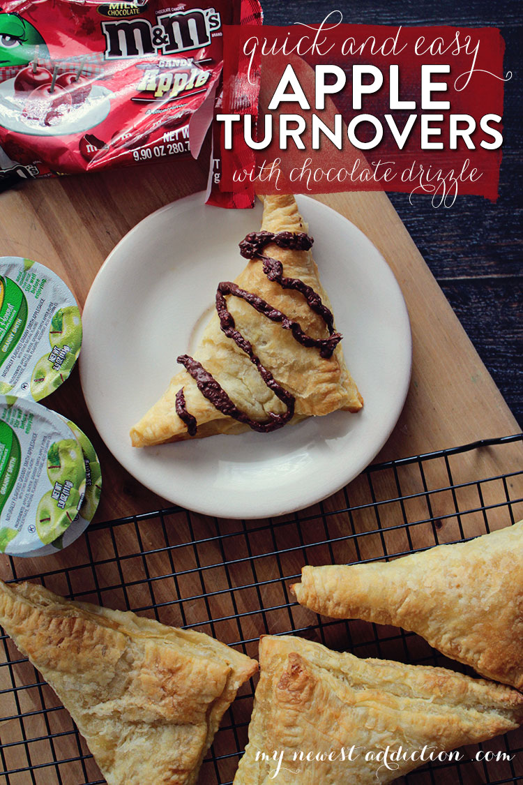 Quick and Easy Apple Turnover with Chocolate Drizzle  #FlavorofFall #CollectiveBias #shop http://wp.me/p4tYA6-1xs