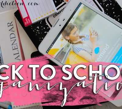 Five Things: Back To School Organization