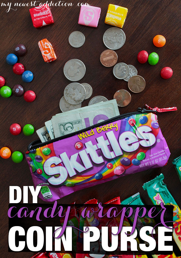 Are you a crafty person? Halloween is around the corner and there will be an excess of empty candy wrappers. Don't let them go to waste. I have a step-by-step tutorial for a Do It Yourself Candy Wrapper Coin Purse