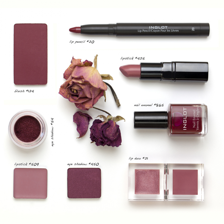 Inglot Cosmetics has beautiful options for Pantone's Color of the Year in Marsala