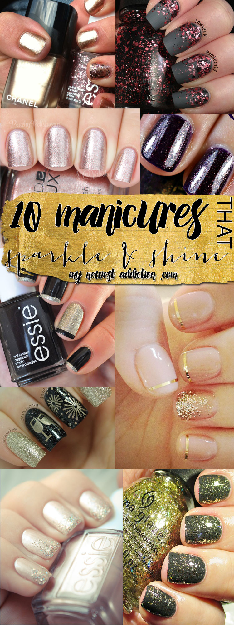 10 Gorgeous Manicures that Sparkle and Shine