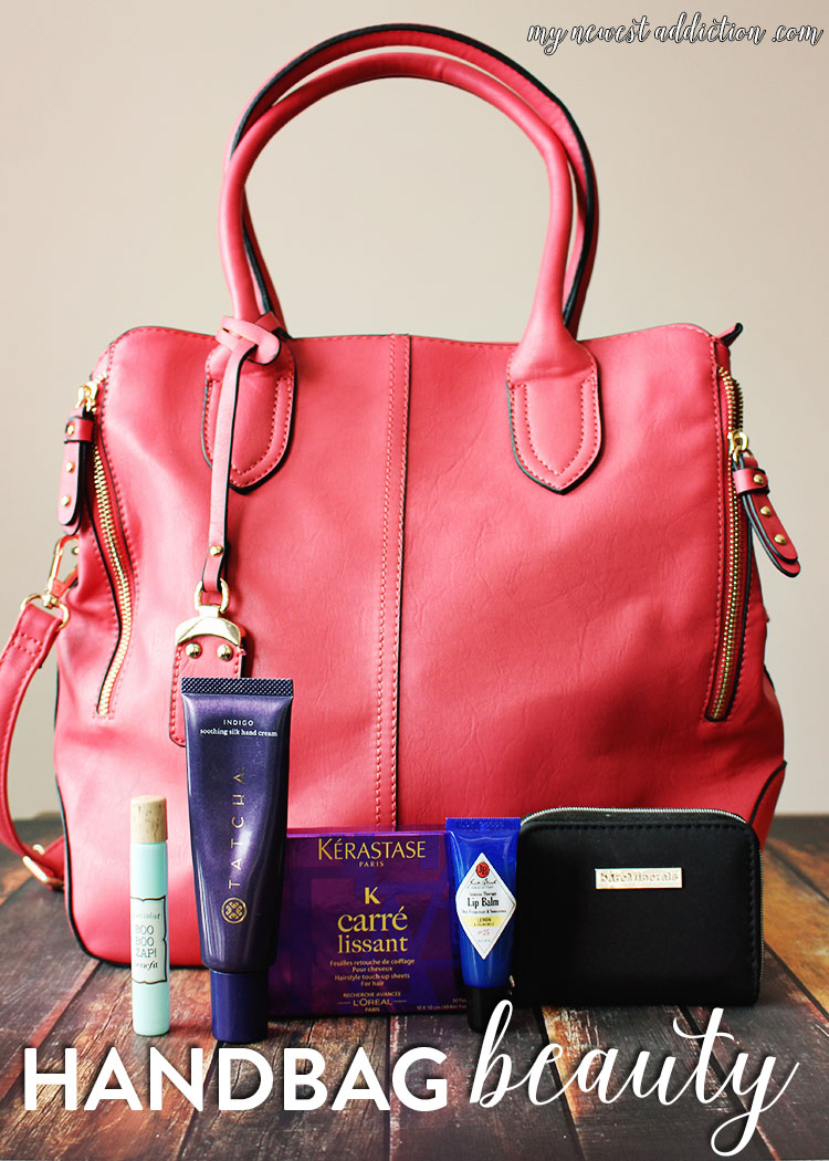 Handbag Beauty Favorites | Robert Matthew Bags are gorgeous and so are the beauty products I store in it!