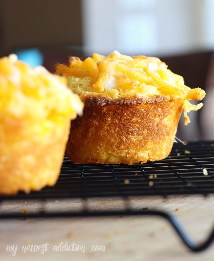 Mac N Cheese Sweet Corn Muffins