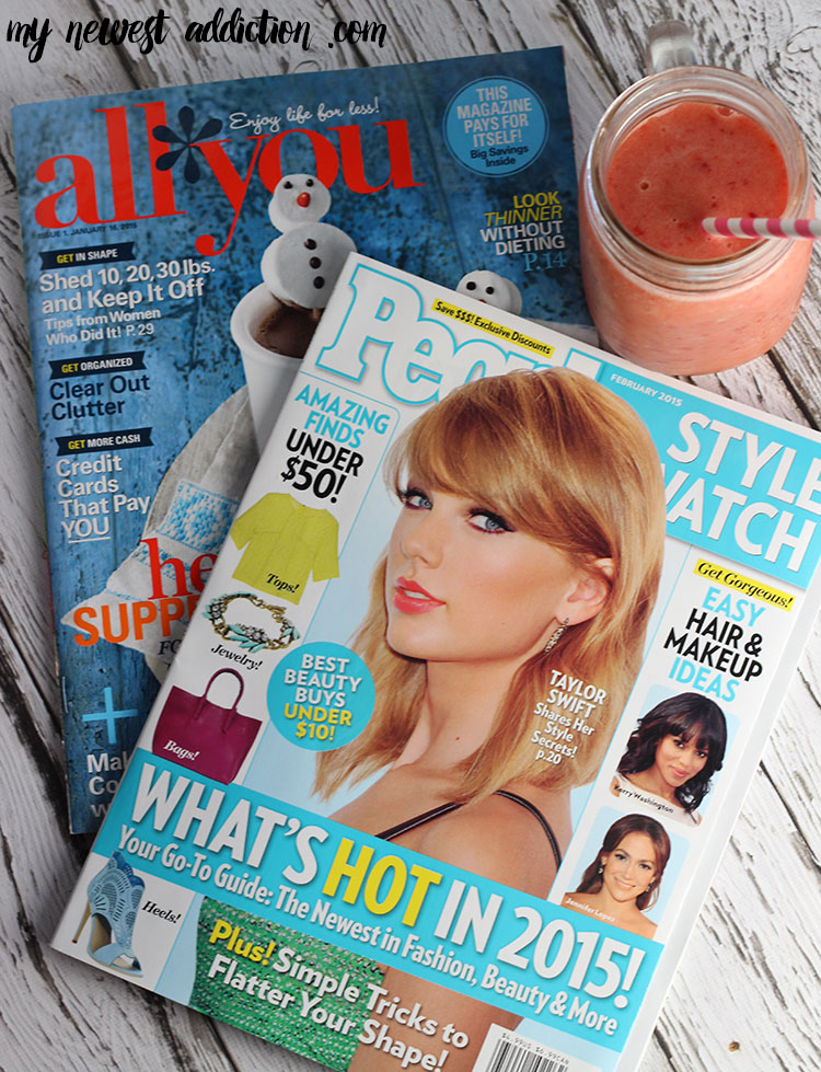 People StyleWatch and All You Magazines + Strawberry Banana Pineapple Smoothie
