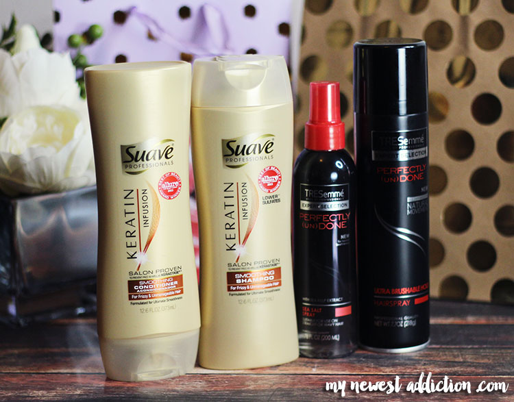 Suave and TRESemme are great for getting high quality results on a budget.