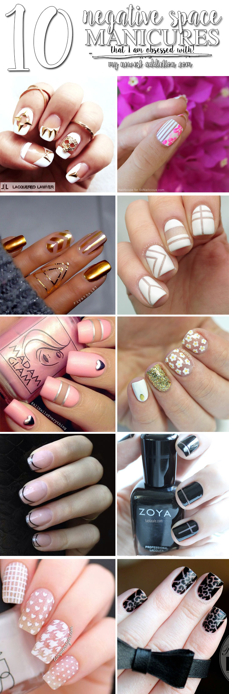 10 Negative Space Manicures That I am OBSESSED with!