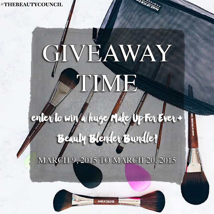 TBC Make Up For Ever Giveaway