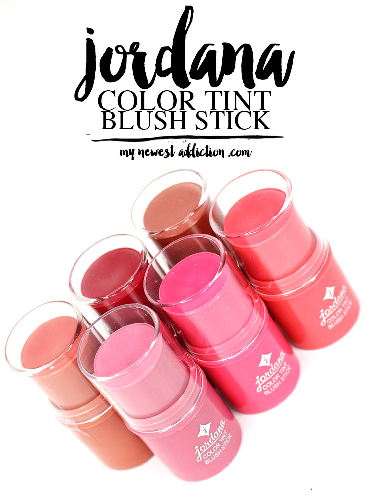 Jordana Color Tint Blush Sticks Review and Swatches