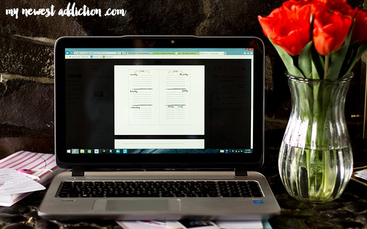 Organization | HP Envy 15 with Intel RealSense plus an awesome Week At A Glance Free Printable