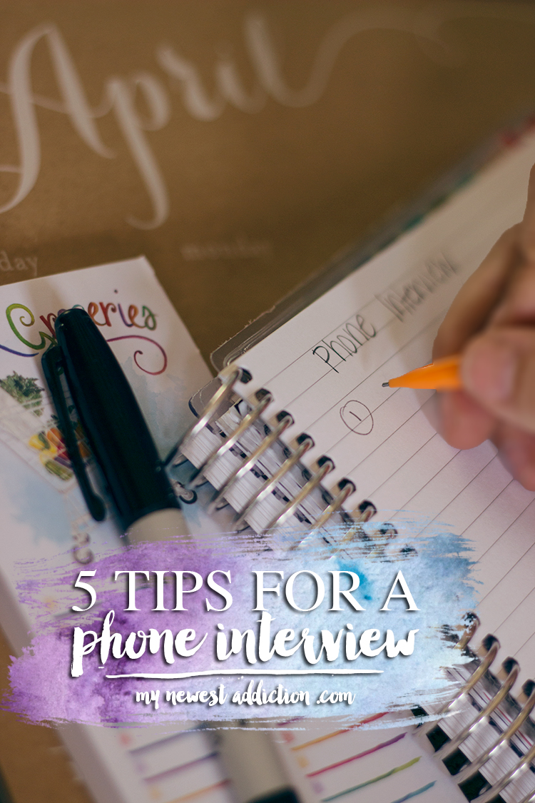 5 Tips For A Phone Interview