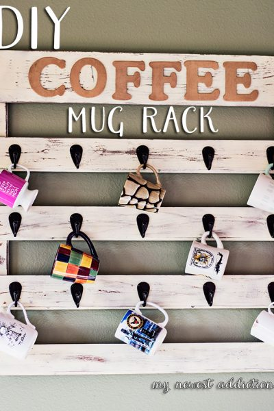 DIY Coffee Mug Rack