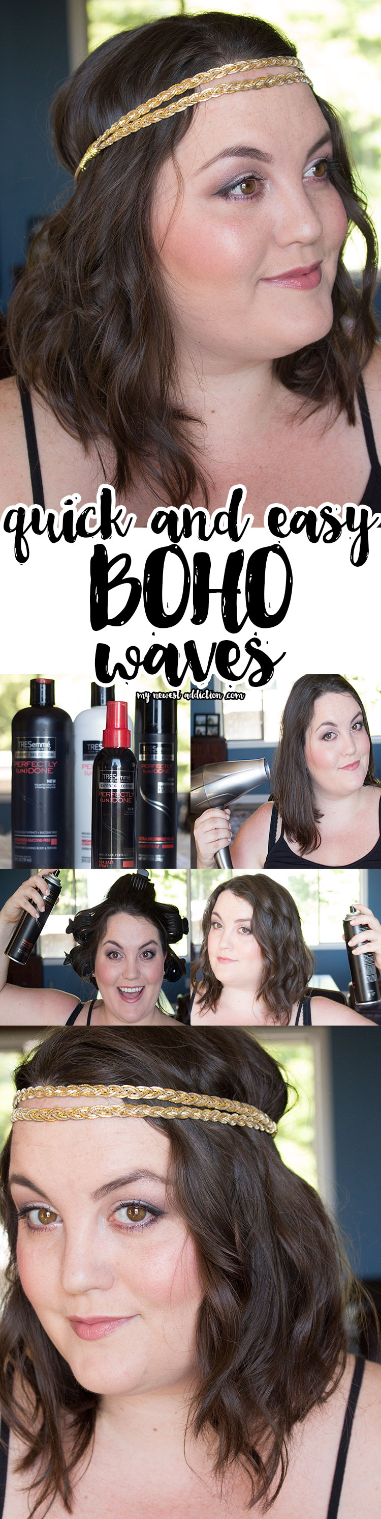 Quick and Easy Boho Waves   Perfectly Undone