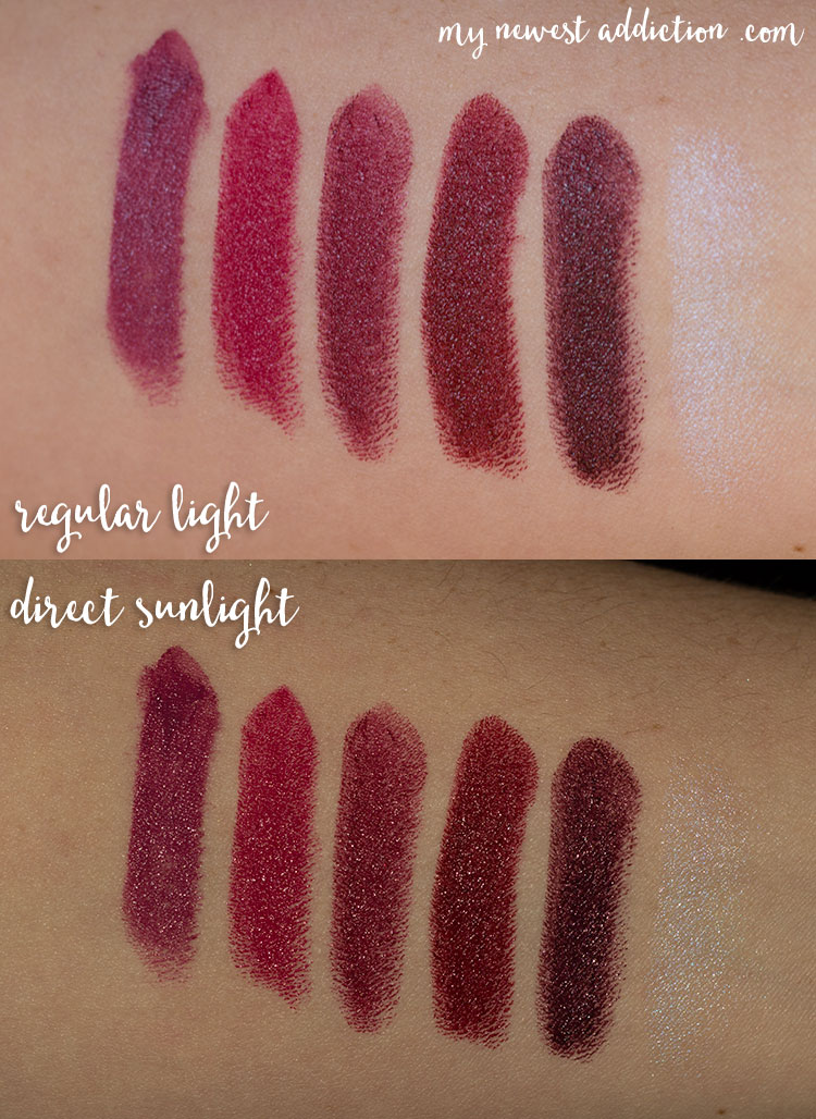 Bite Beauty Frozen Berries Matte Creme Lipstick Swatches