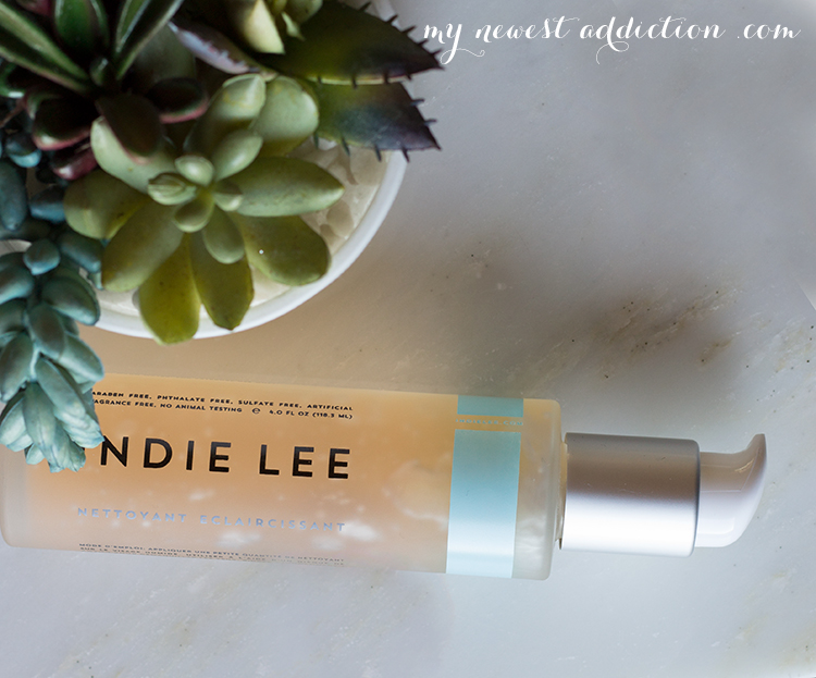 a.m. skincare routine | Indie Lee Brightening Cleanser