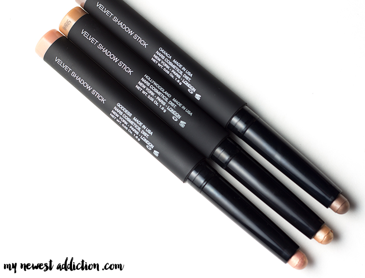 NARS Velvet Shadow Stick | Oaxaca, Hollywoodland, Goddess