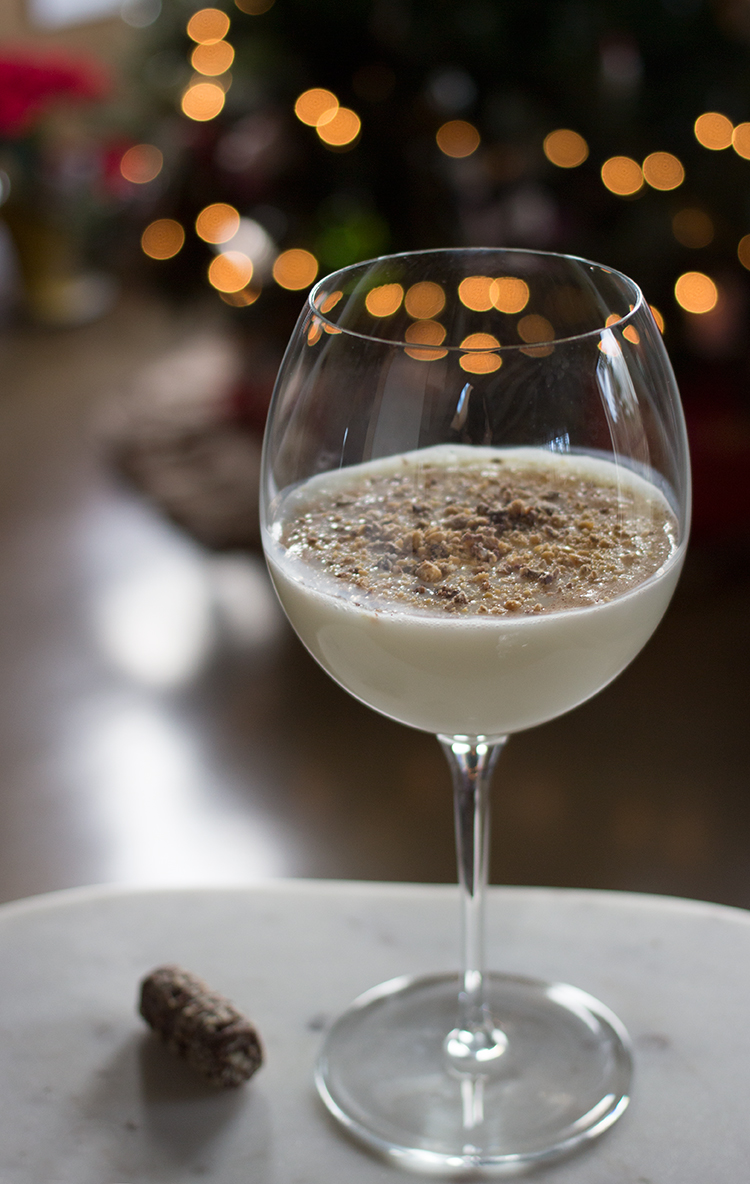 Almond Candy Eggnog Cocktail