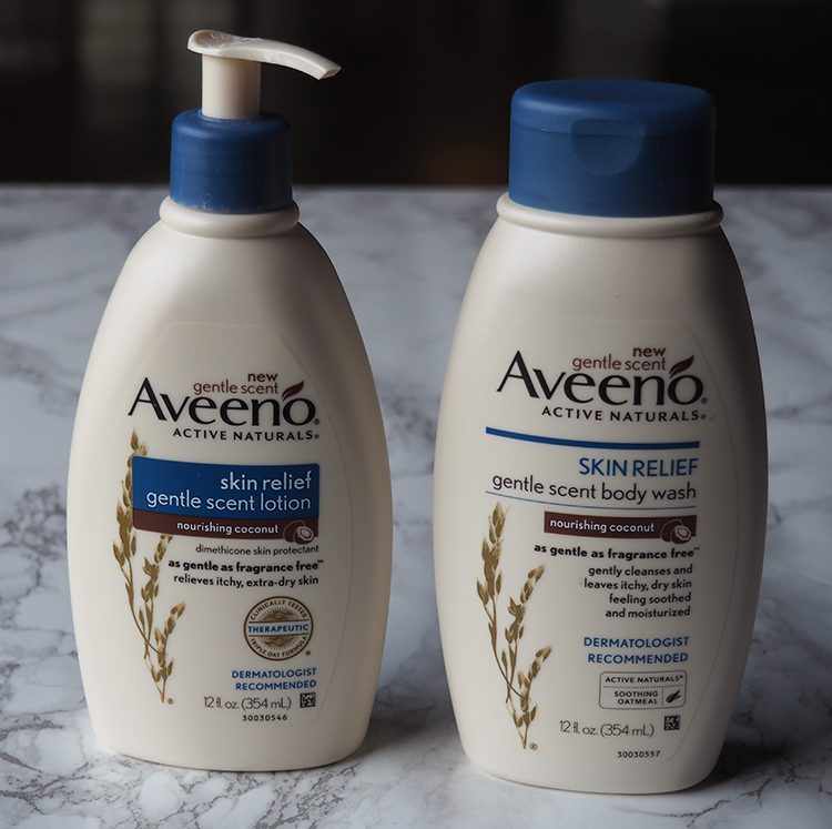 Aveeno Nourishing Coconut Body Wash and Body Lotion