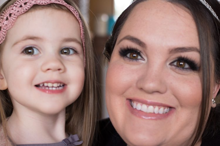 Quick and easy mommy + daughter hair dos!