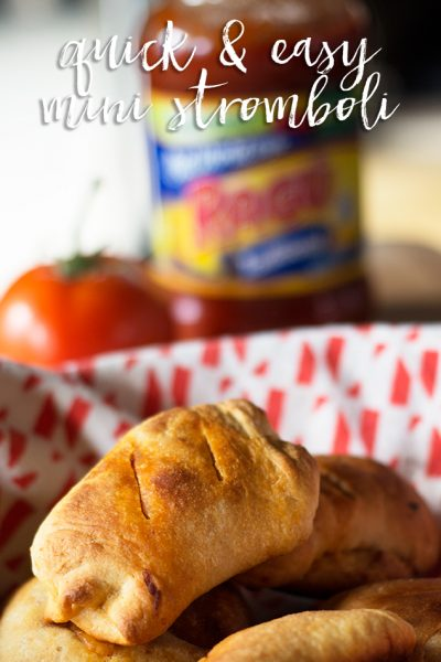 Quick & Easy Mini Stromboli Recipe