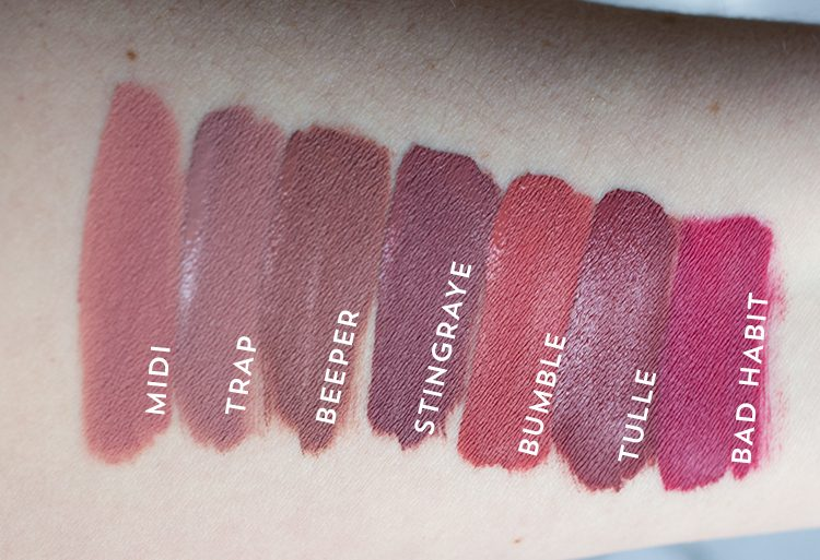 Colourpop Ultra Matte Lipstick Swatches