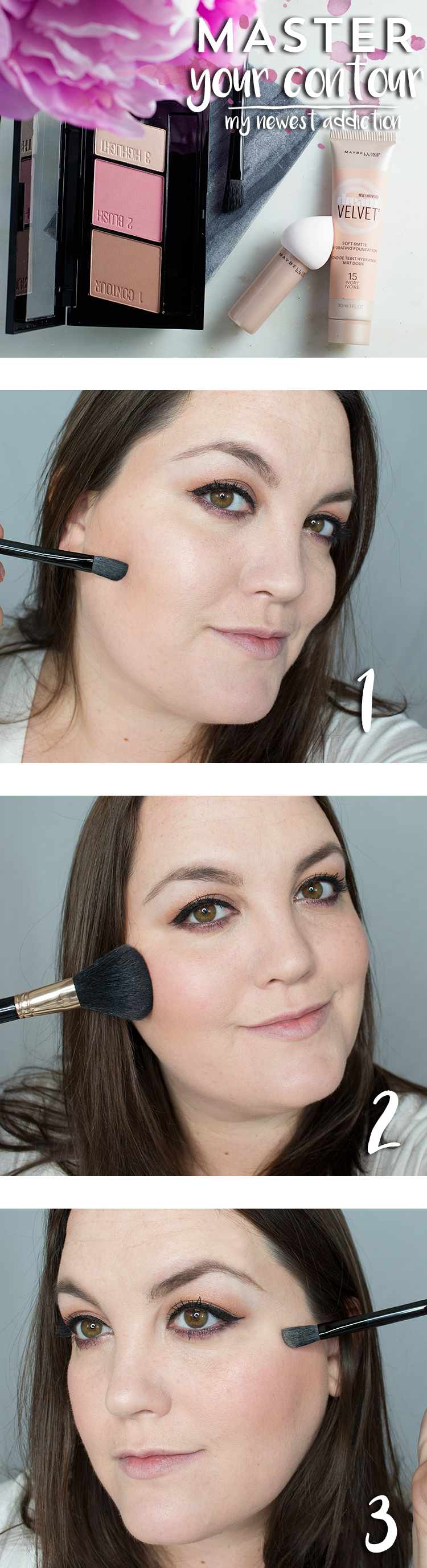 Master your contour in 3 easy steps with Maybelline Master Contour palette.
