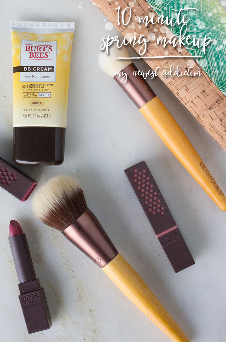 10 Minute Spring Makeup Look using Burt's Bees and Ecotools