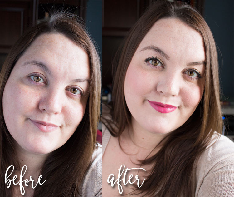 Before and After! 10 Minute Spring Makeup Look using Burt's Bees and Ecotools