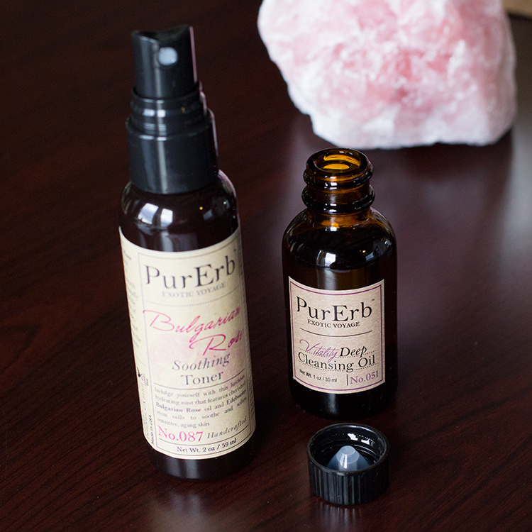 PurErb Vitality Deep Cleansing Oil and Bulgarian Rose Soothing Cleanser