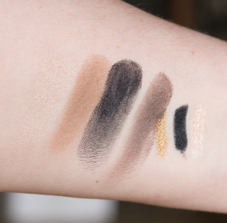 MAC Brant Brothers Collection Eye Shadow and Kohl Swatches