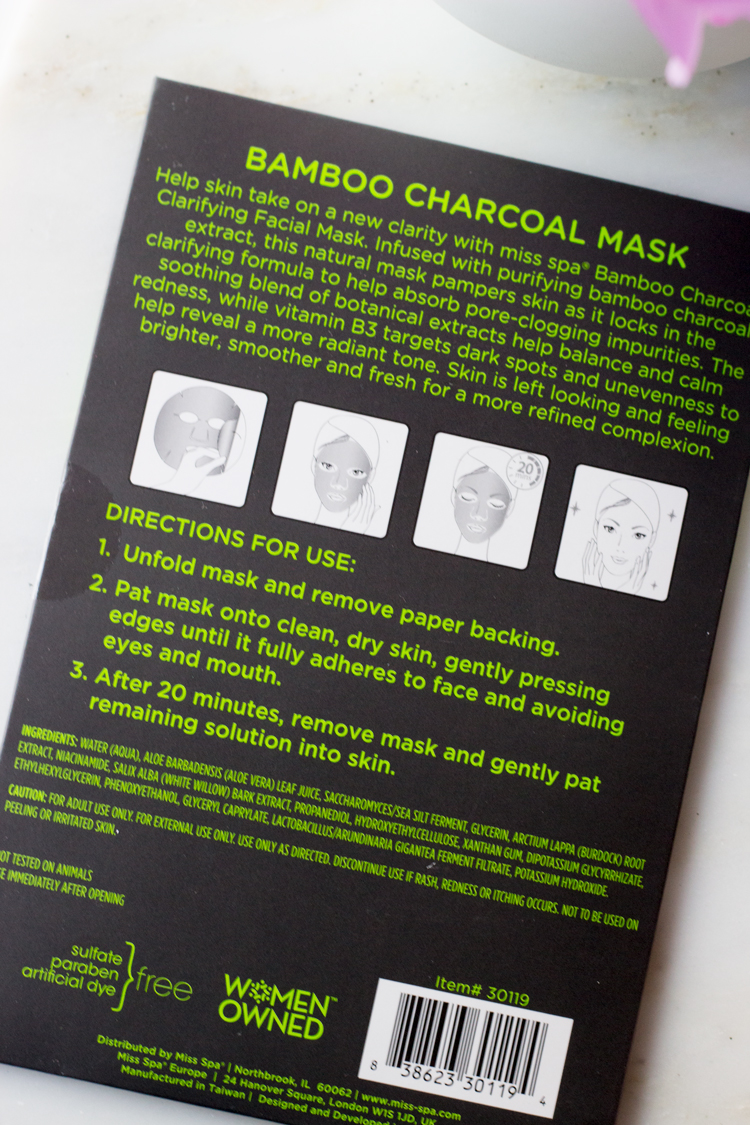 Miss Spa Bamboo Charcoal Sheet Mask