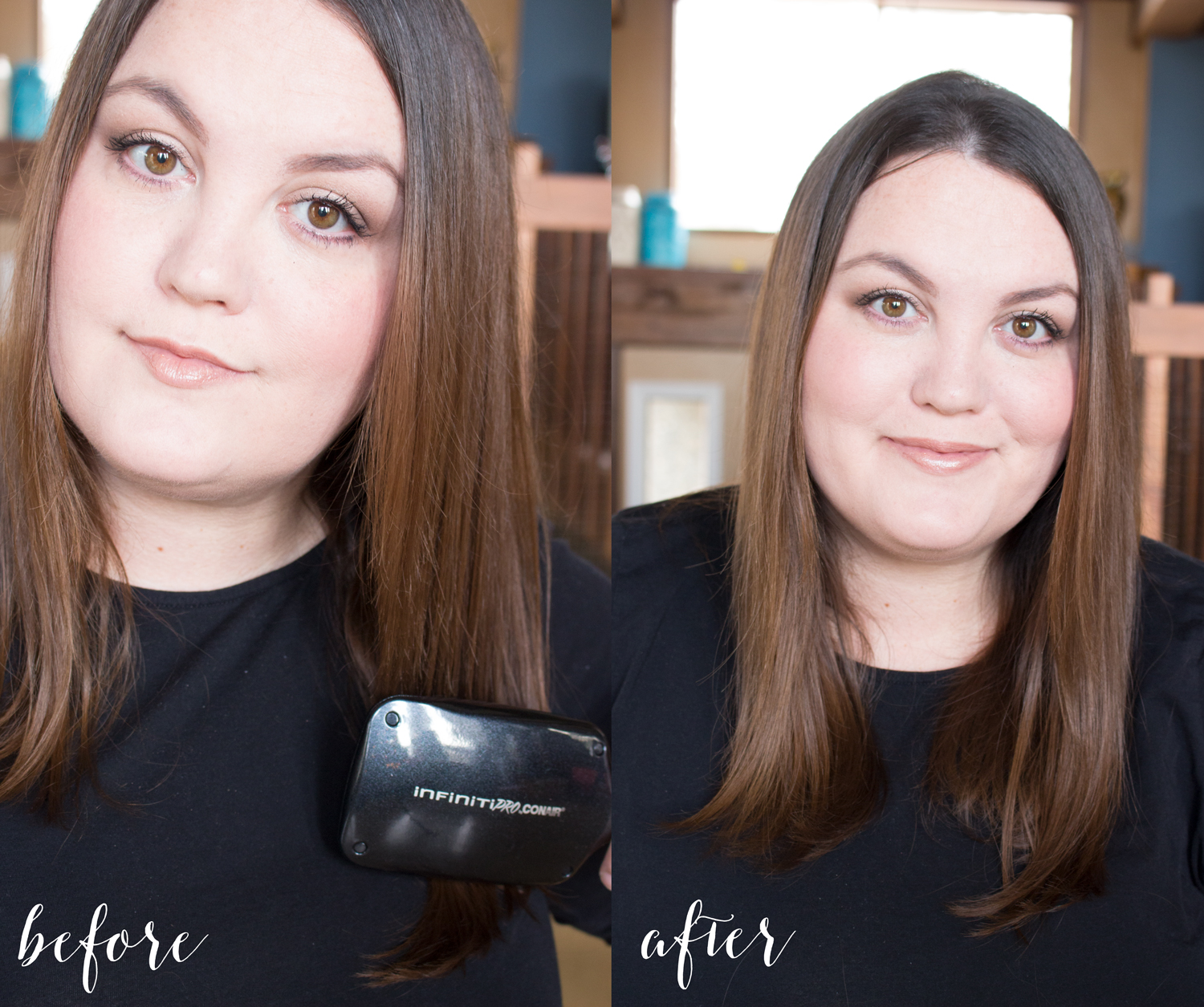 Conair Infiniti Pro Diamond Brilliance Before and After