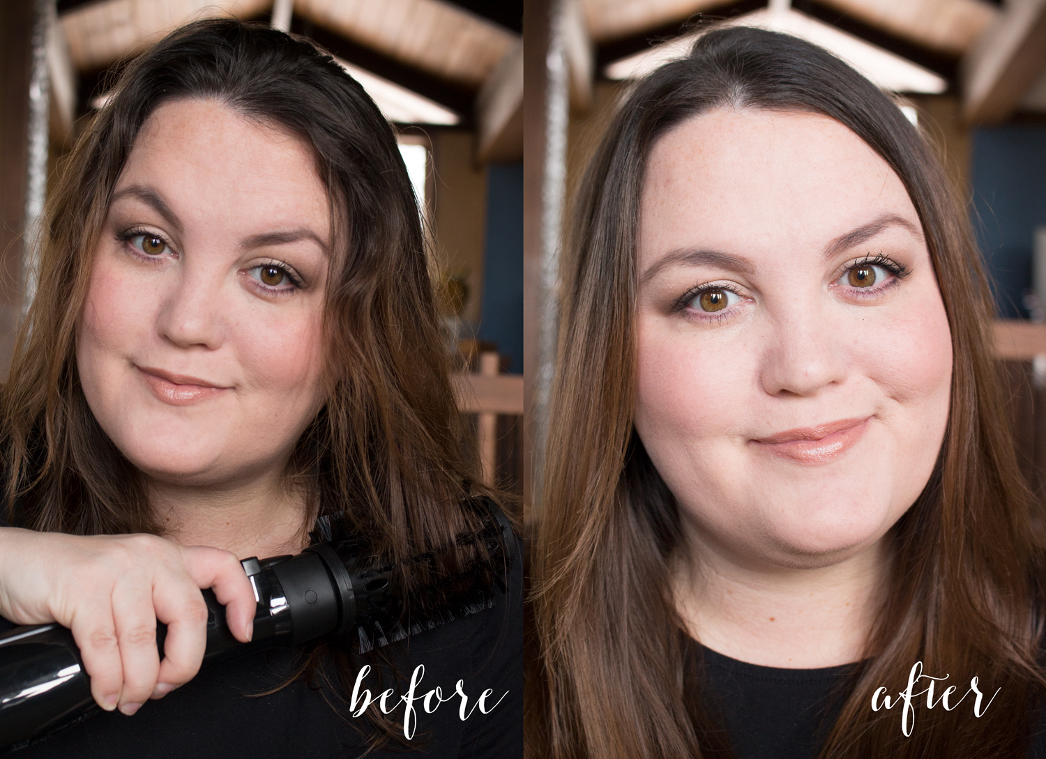 Conair Infiniti Pro Spin Air Brush Styler Before and After