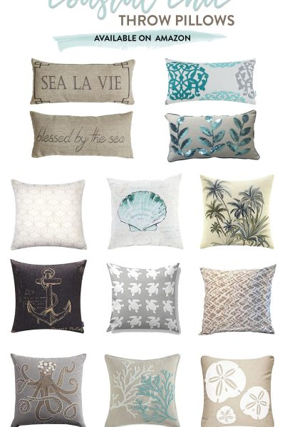 Coastal Chic Throw Pillows available on Amazon
