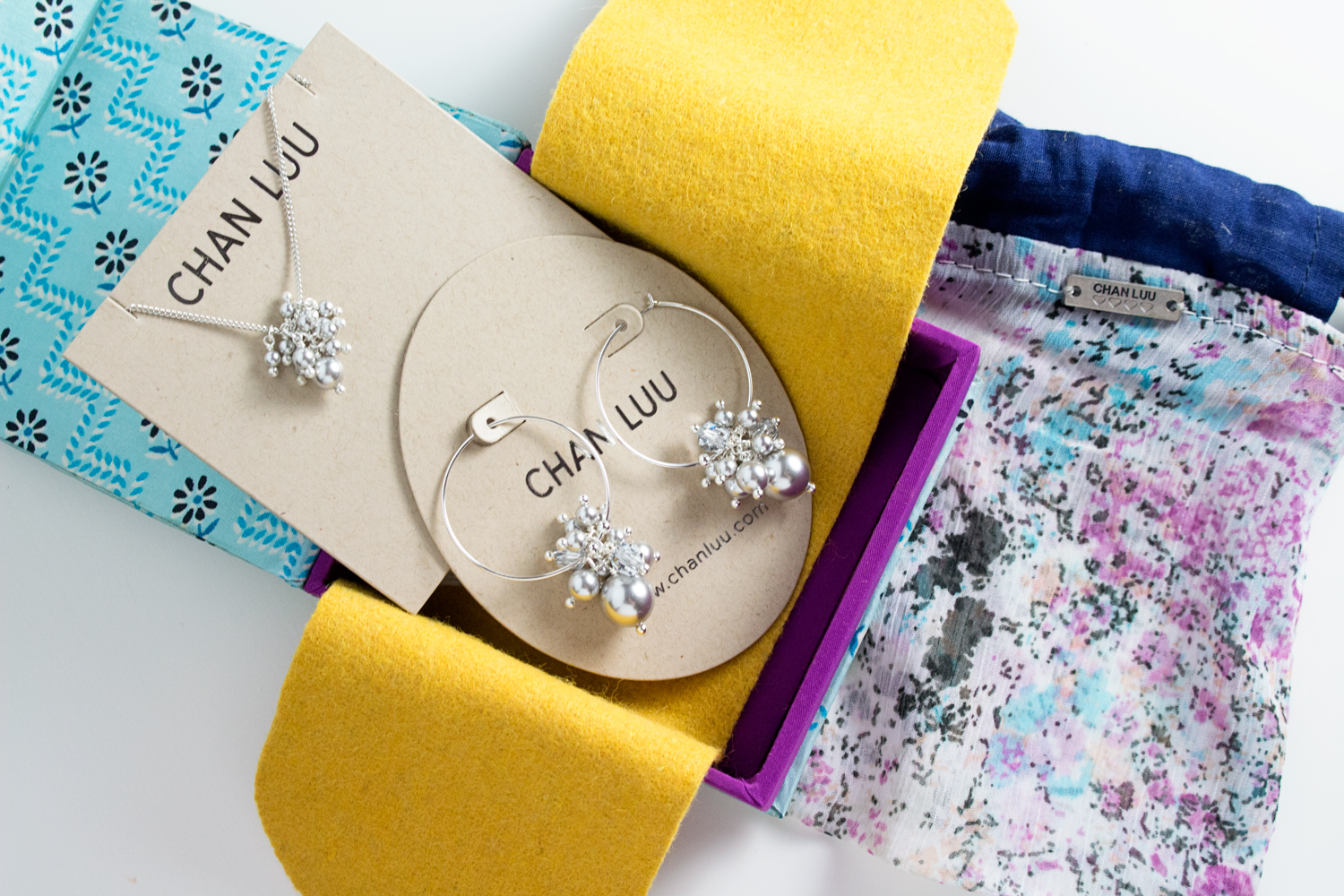 Popsugar Must Have + Neiman Marcus 2017 Box | Chan Luu Swarovski Pearl & Crystal Necklace and Earring Set